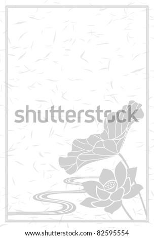 monochrome lotus flower - stock vector
