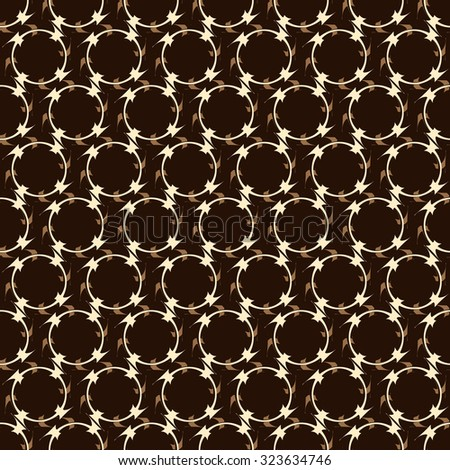 Monochrome pattern mesh, decorative ring, seamless vector background. - stock vector