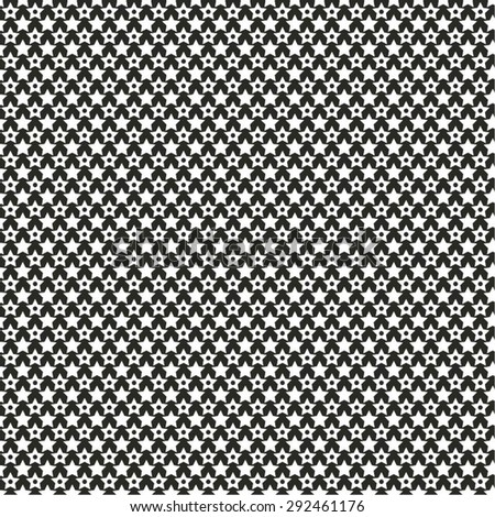Monochrome pattern of stars, carbon, seamless vector background.