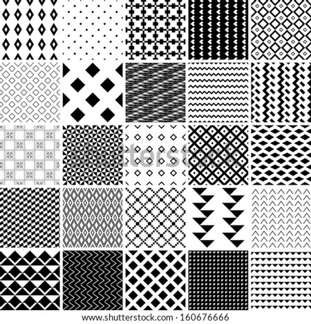 monochrome patterns set. abstract vector background. - stock vector