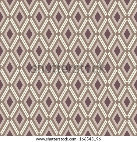 Monochrome rhombic pattern - stock vector