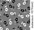monochrome seamless floral patterns Vector backgrounds for textile desig - stock vector