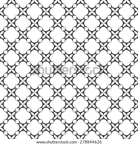 Monochrome seamless pattern in oriental style. Vector background - stock vector