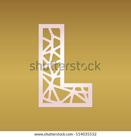 Monogram Initial Letter L Design Geometric Stock Vector