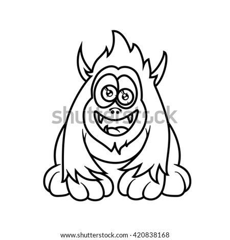Monster Alphabet Coloring Pages Letter A