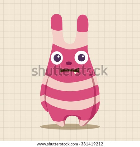 monster cartoon theme elements vecotr,eps - stock vector