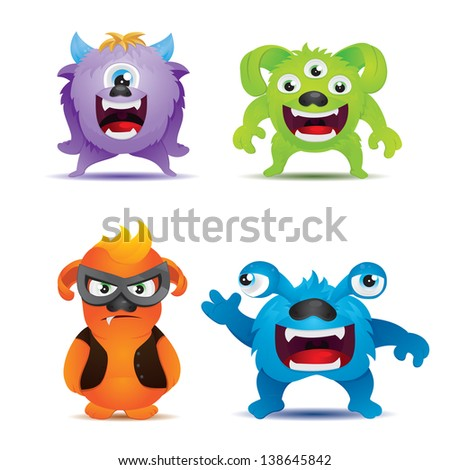Monster Collections - stock vector