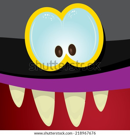 monster face vector illustration