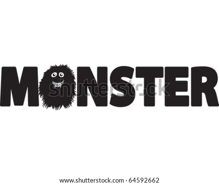 Monster Word - stock vector