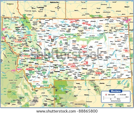 Montana Map Stock Images RoyaltyFree Images Vectors Shutterstock - State map of montana