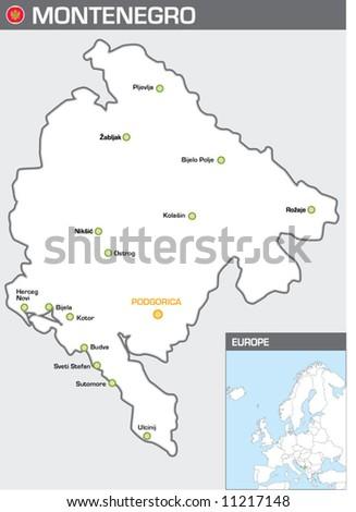 Montenegro - stock vector