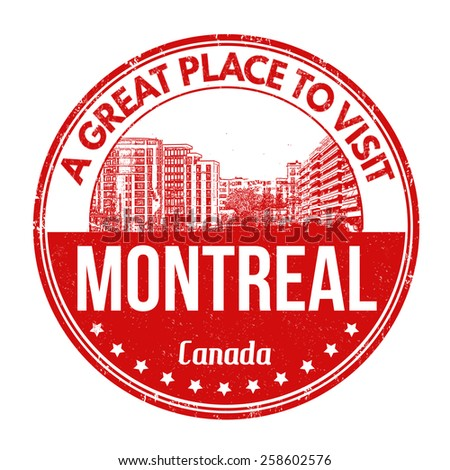 Montreal grunge rubber stamp on white background, vector illustration