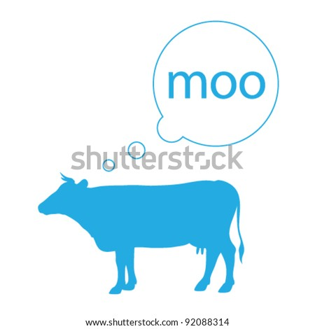mooing cow - stock vector