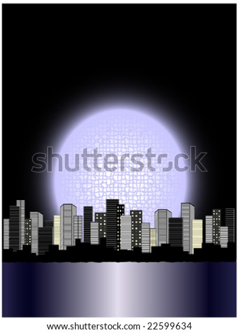 moon above city