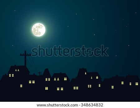Moon and city