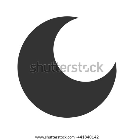 Moon Silhouette Isolated Black On White Stock Vector Hd Royalty