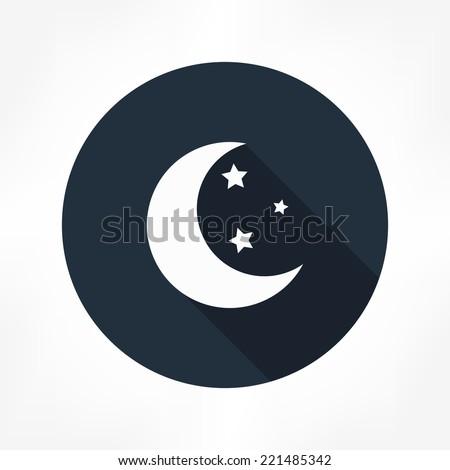 moon star icon - stock vector