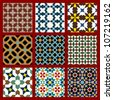 Moorish Seamless Pattern Set One - stock vector