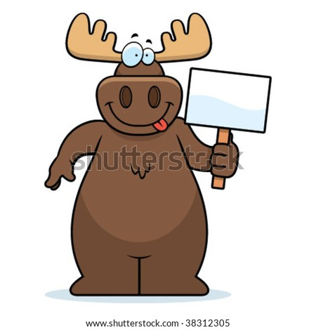 Moose Sign - stock vector