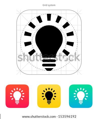 More light icon on white background. Vector illustration. - stock vector