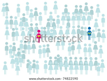 More people should be read a books. - stock vector