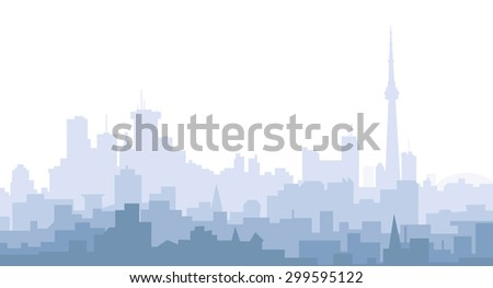 Morning Toronto City Skyline - stock vector