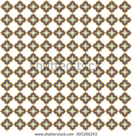Moroccan tile seamless pattern. vector illustration - stock vector
