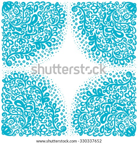 Moroccan tiles ornaments in blue and white colors. Seamless patchwork pattern. Can be used for wallpaper, textile and pattern fills, different surfaces, background of web site pages. - stock vector