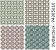 Morocco Seamless Patterns Background Set - stock vector