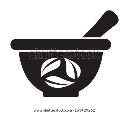 Mortar and pestle - stock vector