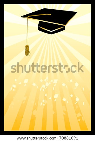 Mortar in yellow spotlight.Gradients and blend used in background - stock vector