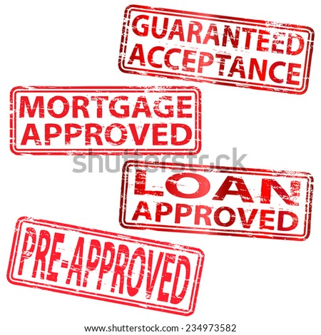 Mortgage Approved Stamp - stock vector