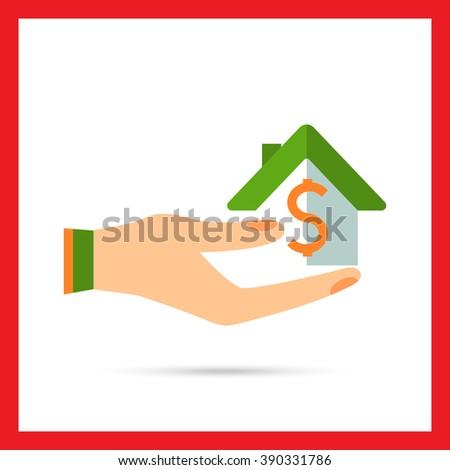 Mortgage icon - stock vector