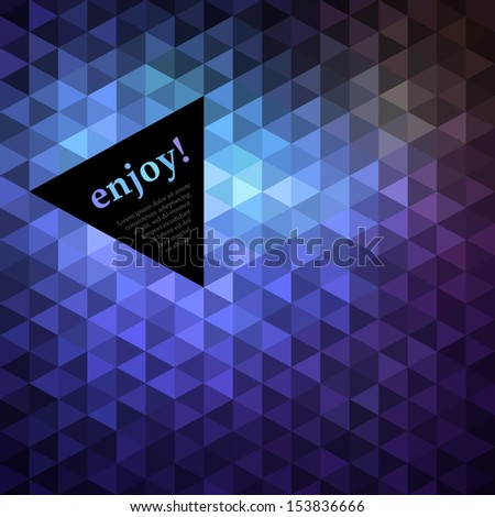 Mosaic background with space for Your text, vector eps8 illustration - stock vector