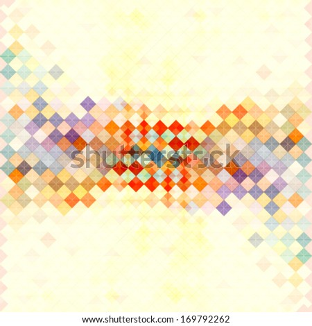 mosaic banner design with soft faded color tones - stock vector
