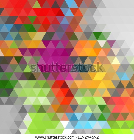 mosaic colorful background - stock vector
