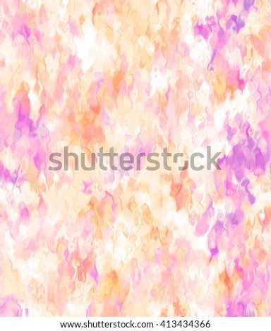 Mosaic ethnic colorful orange pink violet hand drawn stylized seamless vector pattern for print, textile, fabric, wallpaper. Artistic brush painted drops and spots card for greeting, invitation, cover - stock vector