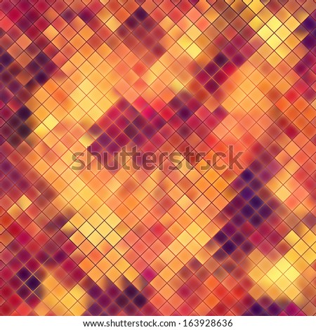 Mosaic orange abstract. EPS 10 vector file included - stock vector