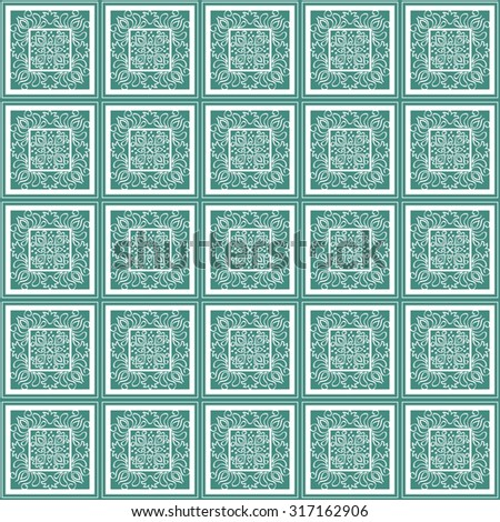 Mosaic seamless pattern of geometric shapes for printing on fabrics and wallpaper - stock vector