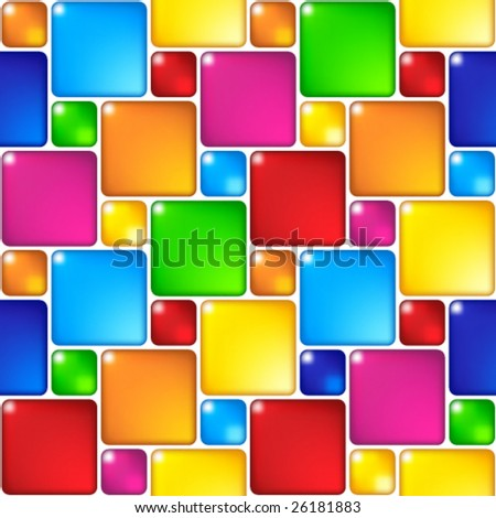 Mosaic seamless pattern. (See more seamless backgrounds in my portfolio). - stock vector