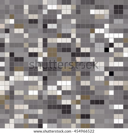 Mosaic tiles texture vector pattern. Square pixel seamless background