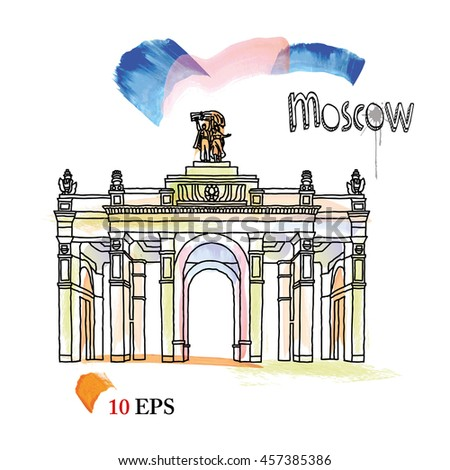 moscow.  - stock vector
