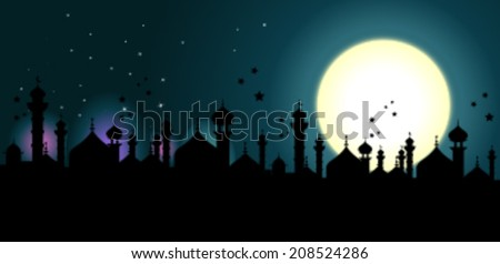 Mosque or Masjid background - stock vector