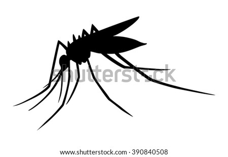 Mosquito Insect Silhouette Flat Icon Apps 390840508