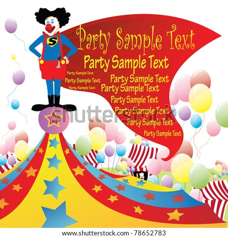 most popular super hero clown with cape standing on top of circus tent ...