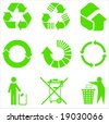 Most used recycle signs vector - stock photo