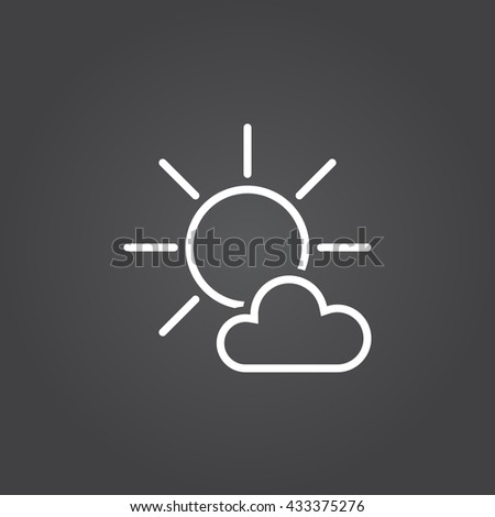 Beautiful Mostly Sunny Icon With Decor