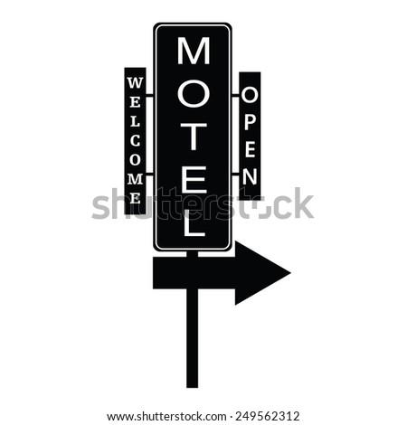 motel signboard vector - stock vector