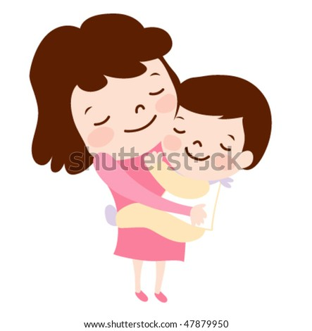 Mother and baby. vector illustration - stock vector
