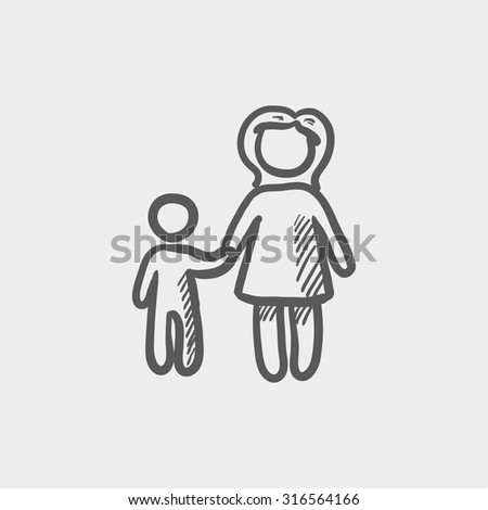 stock-vector-mother-and-child-sketch-icon-for-web-mobile-and-infographics-hand-drawn-vector-dark-grey-icon-316564166.jpg
